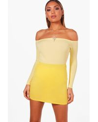 Boohoo - Faith Basic Jersey Micro Mini Skirt - Lyst