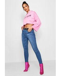 Boohoo - Mid Rise Stretch Skinny Jeans - Lyst