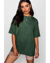 Boohoo - Oversized Boyfriend T-shirt - Lyst