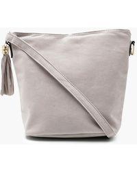 Boohoo - Laura Suedette Bucket Cross Body Bag - Lyst