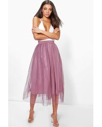 Boohoo - Tall Emily Boutique Tulle Mesh Midi - Lyst