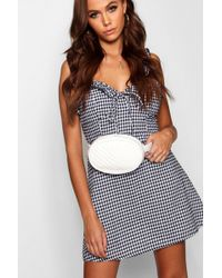 Boohoo - Chevron Quilted Belt Bag - Lyst