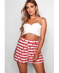 Boohoo - Plus Star & Stripe Flippy Short - Lyst