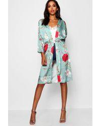 Boohoo - Oriental Print Kimono - Lyst