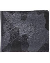 Boohoo - Black Real Leather Camo Print Wallet - Lyst