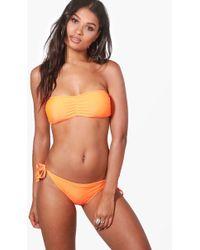 Boohoo - Mix & Match Tie Side Bikini Brief - Lyst