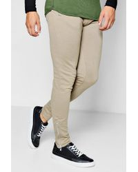 Boohoo - Skinny Fit Jogger With Side Zip - Lyst