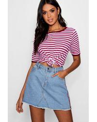 Boohoo - Stripe T-shirt - Lyst
