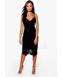 Boohoo - Boutique Crochet Lace Strappy Midi Dress - Lyst