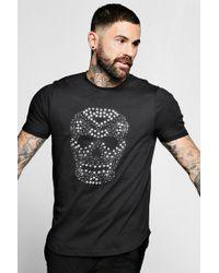 eb49cef130 Lyst - Forever 21 Studded Polo Shirt in Black for Men