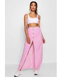 Boohoo - Maxi Length Skirt Style Shorts - Lyst