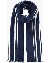 Boohoo - Nina Varied Stripe Wool Oversized Scarf - Lyst