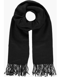 Boohoo - Tegan Supersoft Knit Oversize Scarf - Lyst