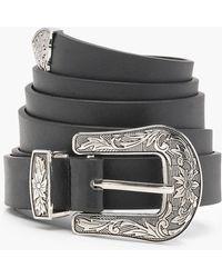 Boohoo - Plus Western Buckle Belt - Lyst