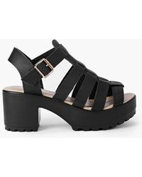Boohoo - Lexi Fisherman Cleated Sandal - Lyst