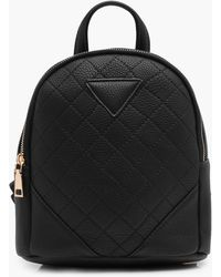 Boohoo - Quilted Mini Rucksack - Lyst