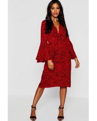 b248830809 ASOS Asos Design Tall Cheetah Print Plunge Chiffon Maxi Beach Dress ...
