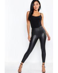 9e3c756d950ea Guess Leggings - Matte Faux Leather in Gray - Lyst