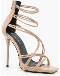 Boohoo - Strappy Cage Sandals - Lyst