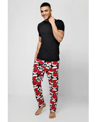 64776f3c Boohoo Disney Donald Duck Pyjama Set in Black for Men - Lyst