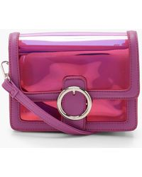 Boohoo - Round Ring Clear Cross Body With Inner Bag - Lyst