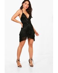 Boohoo | Boutique Pia Sequin And Tassel Bodycon Dress | Lyst
