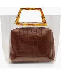 Boohoo - Tortoiseshell Resin Handle Clear Bag - Lyst