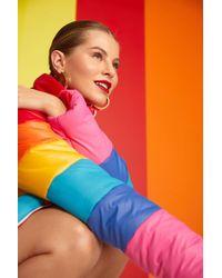 Boohoo - Natalie Rainbow Padded Jacket - Lyst