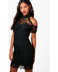 Boohoo   Boutique Vera Corded Lace Midi Dress   Lyst