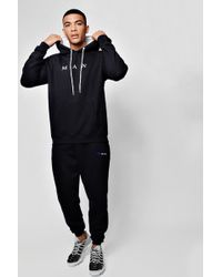 Boohoo - Man Sport 90s Tracksuit With Rubber Branding - Lyst
