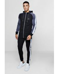 Boohoo - Muscle Fit Hooded Reflective Detail Tracksuit - Lyst
