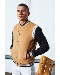 Boohoo - Dele Stud Detailing Wool Look Bomber Jacket - Lyst
