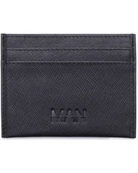 Boohoo - Real Leather Saffiano Emboss Card Holder - Lyst