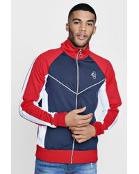 Boohoo - Tyga Track Top With Colour Blocking - Lyst