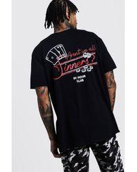 2013679e6f35 Balenciaga Oversized Sinners-print Cotton T-shirt in Black for Men ...