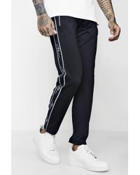 Boohoo - Skinny Fit Man Signature Joggers In Tricot - Lyst