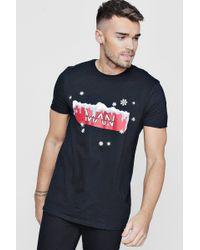 6233c1e33507c7 Lyst - Boohoo Christmas Gingerbread Pocket T-shirt in White for Men