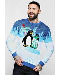 Boohoo - Penguin Novelty Christmas Jumper - Lyst