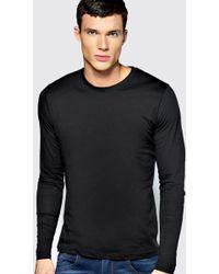 Boohoo - Basic Long Sleeve Crew Neck T Shirt - Lyst