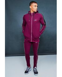 Boohoo - Muscle Fit Reflective Panelled Tracksuit - Lyst