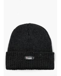 37cd16541d2 Boohoo Ribbed Knit Short Fit Beanie With Turn Up in Black for Men - Lyst