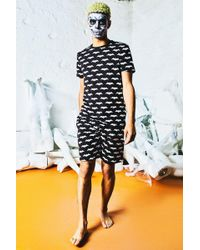 Boohoo - Halloween Bat Print Pyjama Set - Lyst
