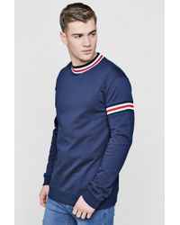 Boohoo - Sweater With Sports Rib - Lyst