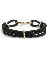 Boohoo - Hook Clasp Woven Bracelet - Lyst