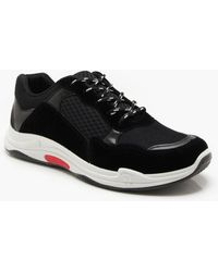 BoohooMAN - Faux Suede Panelled Chunky Trainer - Lyst