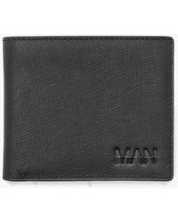 Boohoo - Real Leather Man Emboss Saffiano Wallet - Lyst