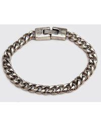 BoohooMAN Chain Bracelet - Metallic
