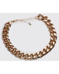BoohooMAN Large Cuban Chain Link Bracelet - Metallic