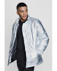 Boohoo - Tyga Metallic Padded Coat - Lyst