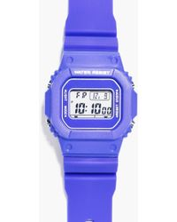 Boohoo - Retro Sports Watch With Square Face - Lyst